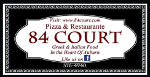 84 court pizza logo greek restaurant auburn maine