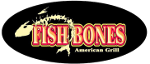 Fish Bones seafood logo lewiston maine