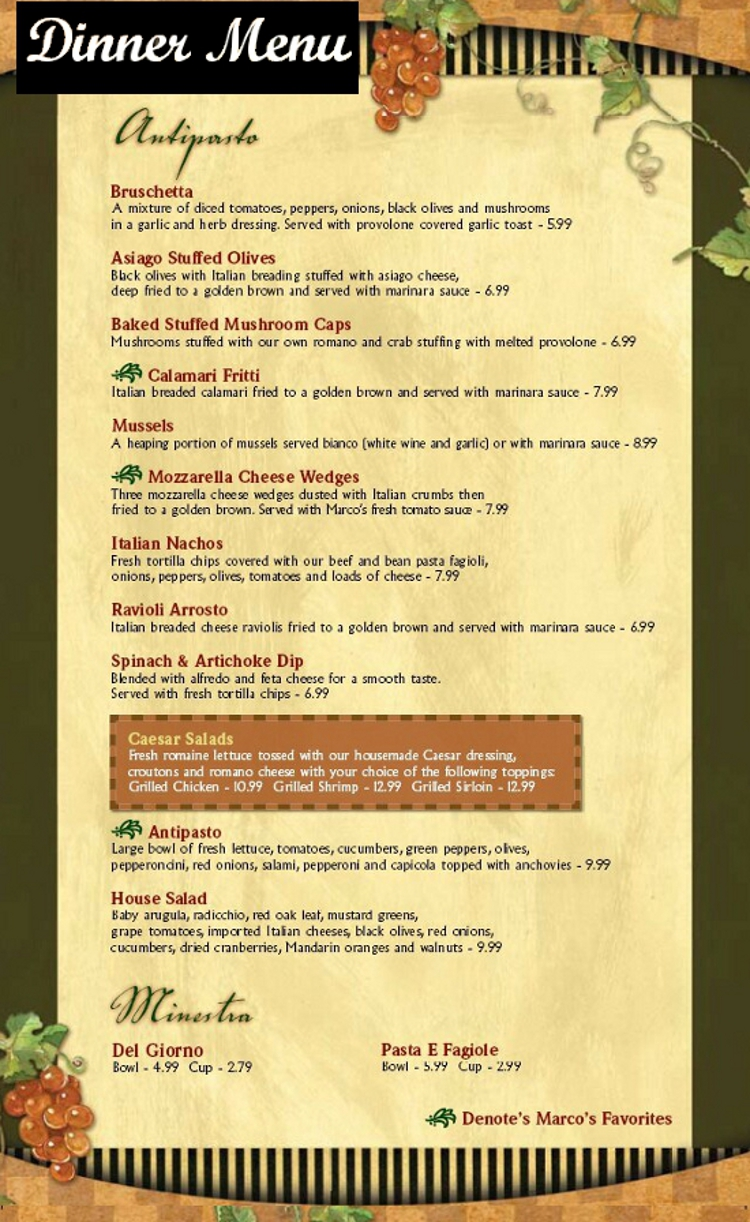 Marcos Restaurant Lewiston Maine Menu - MenusInLA - Lewiston & Auburn ...