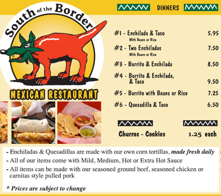 On The Border Restaurant Gluten Free Menu
