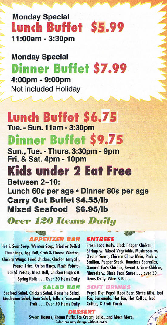 tin tin buffet chinese restaurant auburn maine menusinla rh menusinla com reedley chinese buffet hours chinese buffet 24 hours