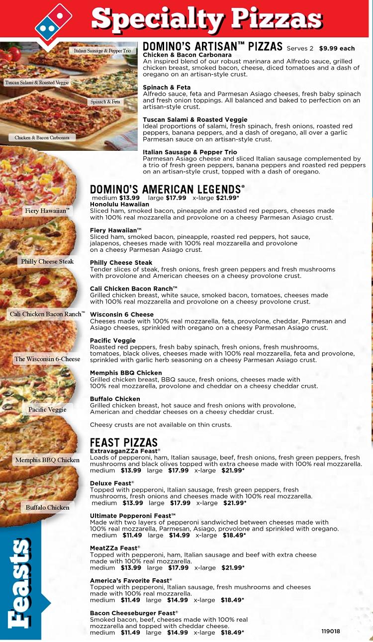 Dominos Pizza Auburn Maine Menu Menusinla Lewiston