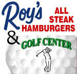 roys all steak hamburgers and golf center logo