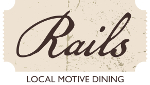 rails restaurant lewiston maine logo