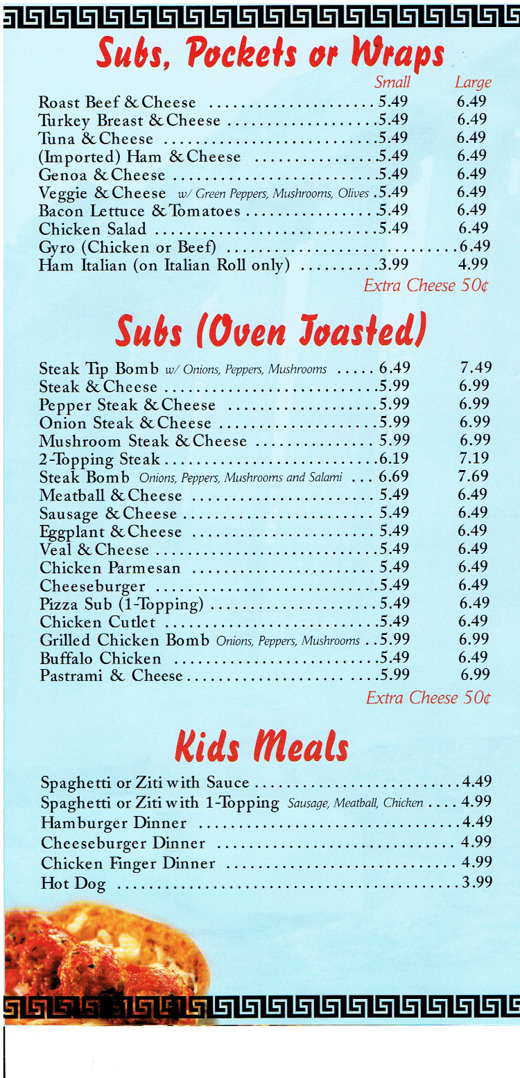 Lewiston House of Pizza Lewiston Maine Restaurant Menu - MenusInLA - Lewiston & Auburn Maine ...